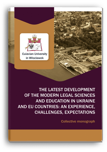 Cover for THE LATEST DEVELOPMENT OF THE MODERN LEGAL SCIENCES AND EDUCATION IN UKRAINE AND EU COUNTRIES: AN EXPERIENCE, CHALLENGES, EXPECTATIONS