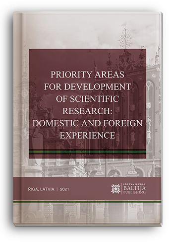 Cover for PRIORITY AREAS FOR DEVELOPMENT OF SCIENTIFIC RESEARCH: DOMESTIC AND FOREIGN EXPERIENCE: monograph / edited by authors. – 3rd ed.