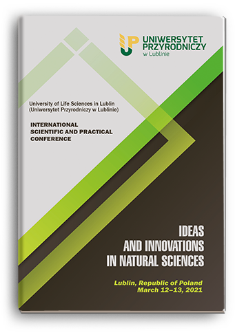 Cover for IDEAS AND INNOVATIONS IN NATURAL SCIENCES