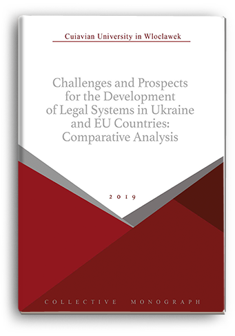 Cover for CHALLENGES AND PROSPECTS FOR THE DEVELOPMENT OF LEGAL SYSTEMS IN UKRAINE AND EU COUNTRIES: COMPARATIVE ANALYSIS