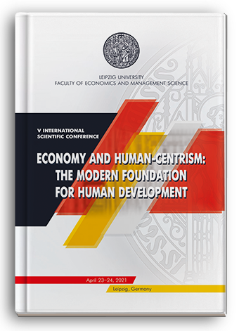 Cover for ECONOMY AND HUMAN-CENTRISM: THE MODERN FOUNDATION FOR HUMAN DEVELOPMENT: V International scientific conference