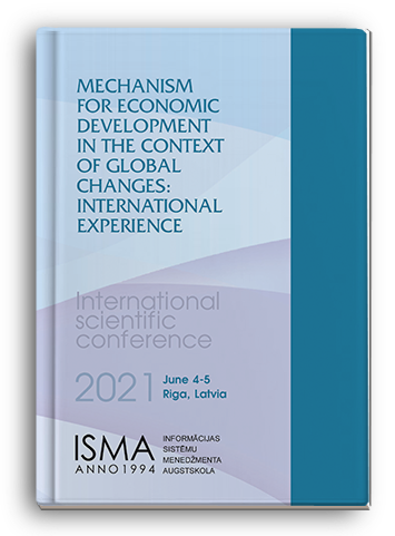 Cover for MECHANISM FOR ECONOMIC DEVELOPMENT IN THE CONTEXT OF GLOBAL CHANGES: INTERNATIONAL EXPERIENCE: International Scientific Conference
