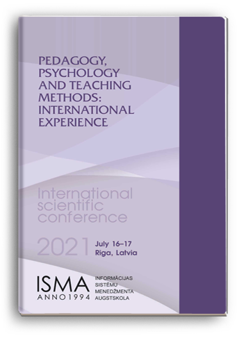 Cover for PEDAGOGY, PSYCHOLOGY AND TEACHING METHODS: INTERNATIONAL EXPERIENCE