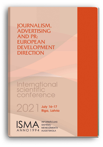 Cover for JOURNALISM, ADVERTISING AND PR: EUROPEAN DEVELOPMENT DIRECTION