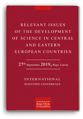 Cover for RELEVANT ISSUES OF THE DEVELOPMENT OF SCIENCE IN CENTRAL AND EASTERN EUROPEAN COUNTRIES: International Scientific Conference