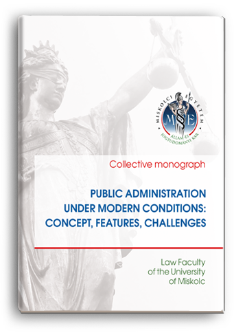 Cover for PUBLIC ADMINISTRATION UNDER MODERN CONDITIONS: CONCEPT, FEATURES, CHALLENGES